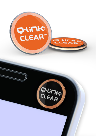 Q-Link Clear Vivid Orange Pocket Wellness Button SRT-3