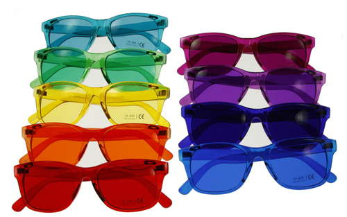 Color Therapy Glasses Set - Classic Style