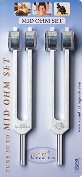 Mid Ohm Tuning Fork Set - 2 Forks 136.1 Hz