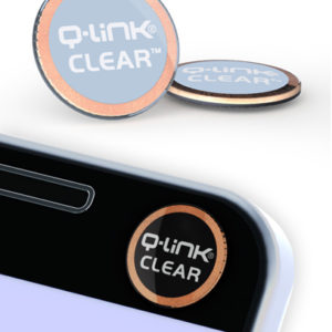 Q-Link Clear Sleek Blue Pocket Wellness Button SRT-3