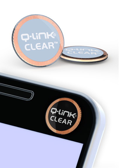 Q-Link Clear Sleek Blue Pocket Wellness Button SRT-3