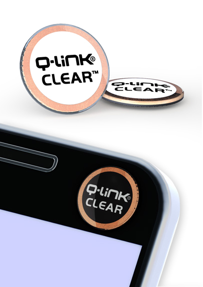 Q-Link Clear Phi White Pocket Wellness Button SRT-3