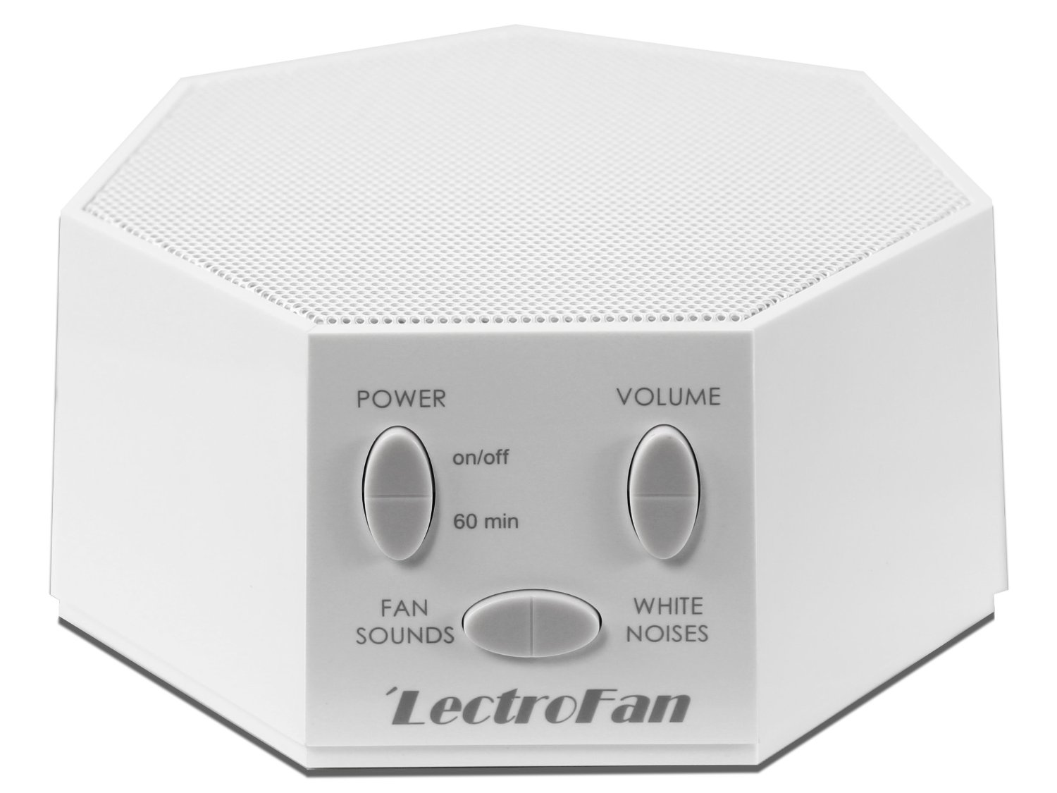 Lectrofan White Noise Machine And Electronic Fan On Back