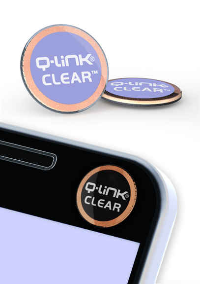 Q-Link Clear Clarion Violet Pocket Wellness Button SRT-3
