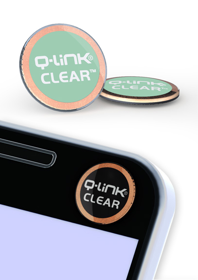 Q-Link Clear Lucent Hemlock Pocket Wellness Button SRT-3