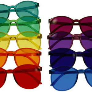 Color Therapy Glasses Set - Round Style