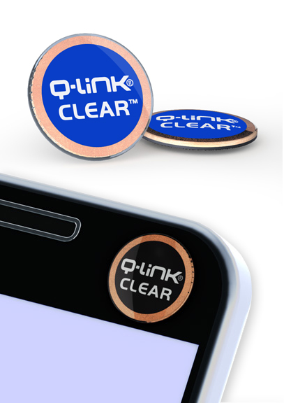 Q-Link Clear Aura Blue Pocket Wellness Button SRT-3