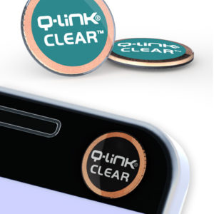 Q-Link Clear Teal Pocket Wellness Button SRT-3