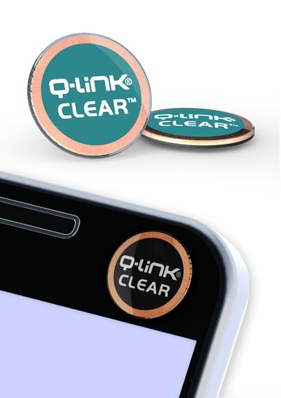 Q-Link Clear Teal Pocket Wellness Button SRT-3