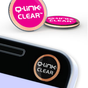 Q-Link Clear Pink Pocket Wellness Button SRT-3