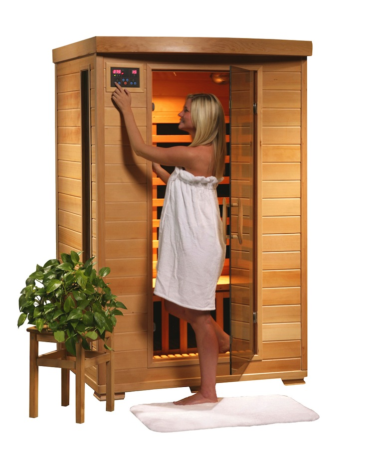 2 person far infrared sauna with carbon heaters. Black Bedroom Furniture Sets. Home Design Ideas