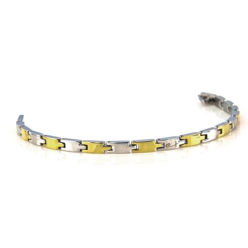 Shuzi EMF Bracelet Two-Tone Link Design