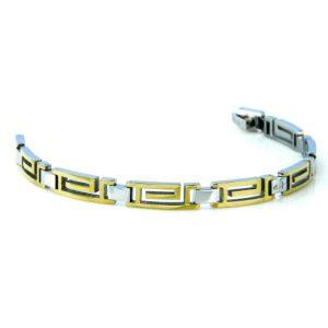 Shuzi EMF Bracelet Two-Tone Maze Design