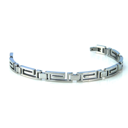 Shuzi Stainless Steel Maze EMF Bracelet