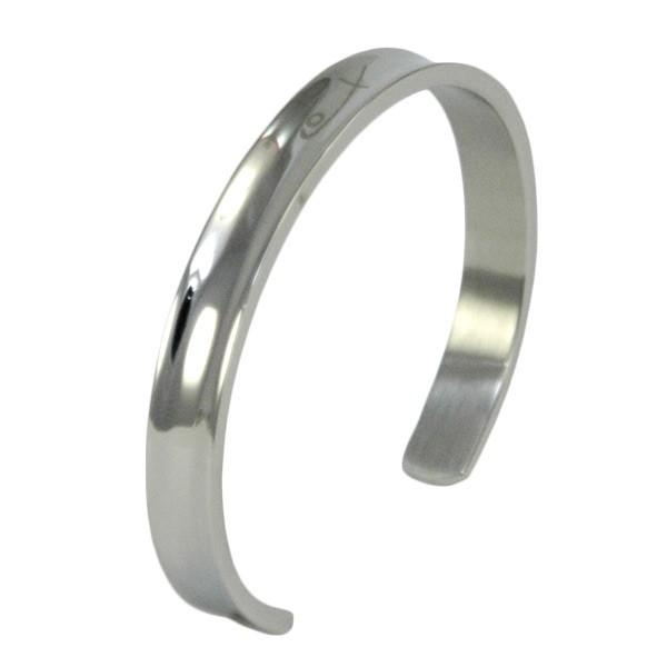Shuzi Grooved Cuff EMF Bracelet - Ladies