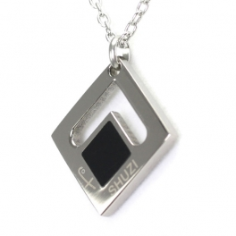 Shuzi Diamond Square Pendant