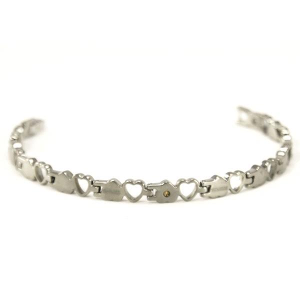 Shuzi Titanium Heart Link Bracelet