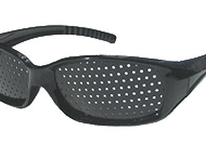 Pinhole Glasses - Black Wraparound
