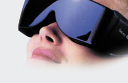 Relaxease Visual Relaxation System Light Glasses
