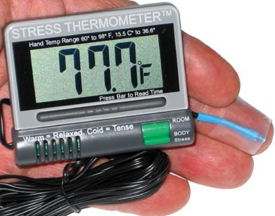 Stress Thermometer - Temperature Biofeedback Digital Numeric Thermal Trainer