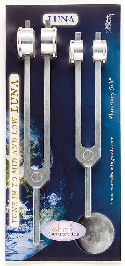 Luna Tuning Fork Kit 210.42 Hz and 105.21 Hz