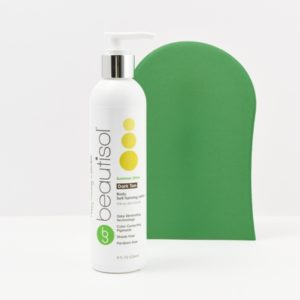 BEAUTISOL Basic Tanning System: Dark Lotion Formula (8 oz. lotion + App Mitt)