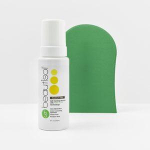 BEAUTISOL Basic Tanning System: Medium Mousse Formula (8 oz. mousse + App Mitt)