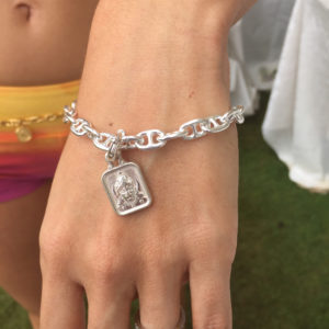 Fine Anchor Bracelet with Hanuman Charm