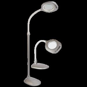 Ottlite 2-in-1 LED Magnifier Floor and Table Light 2